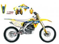New Suzuki RMZ 450 08-17 World MX GP Graphics Sticker Kit Blackbird 2316R6